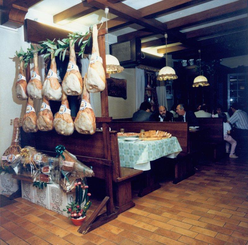 Il locale degustazione negli anni '80